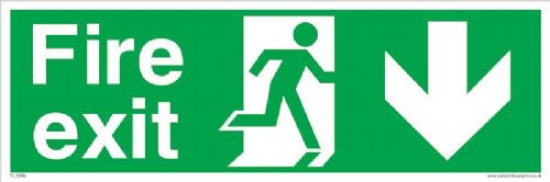 Fire exit Running man Down